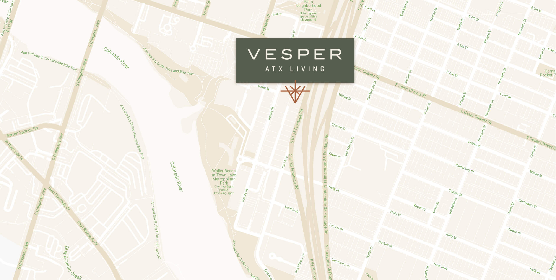Vesper ATX Living is located on 84 East Avenue near Rainey Street