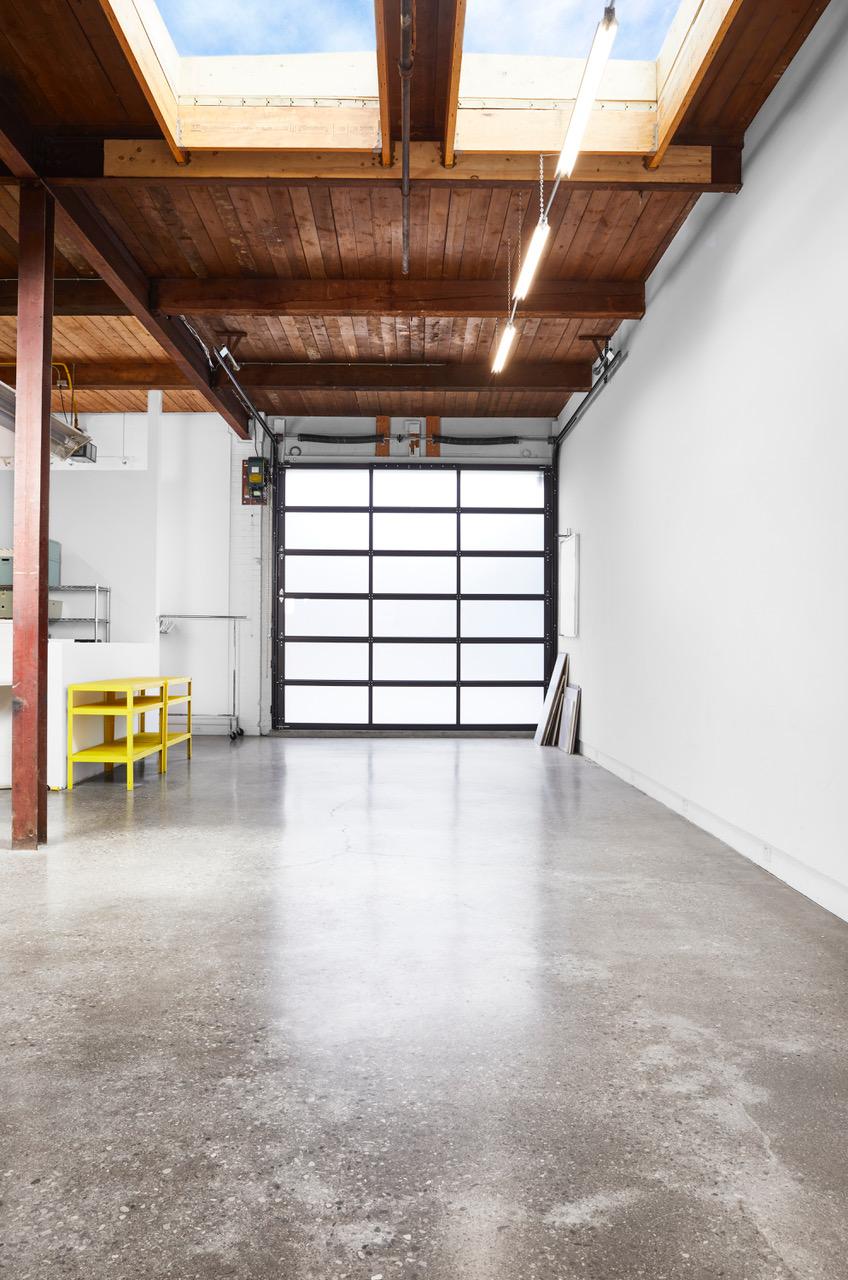 Open photography studio with skylights.