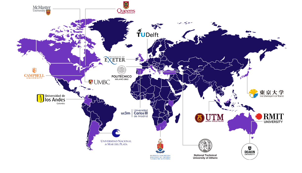 The Global Learning Expedition - Thriving Online 2020 participants map