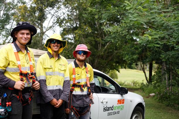 Island Energy Staff Members