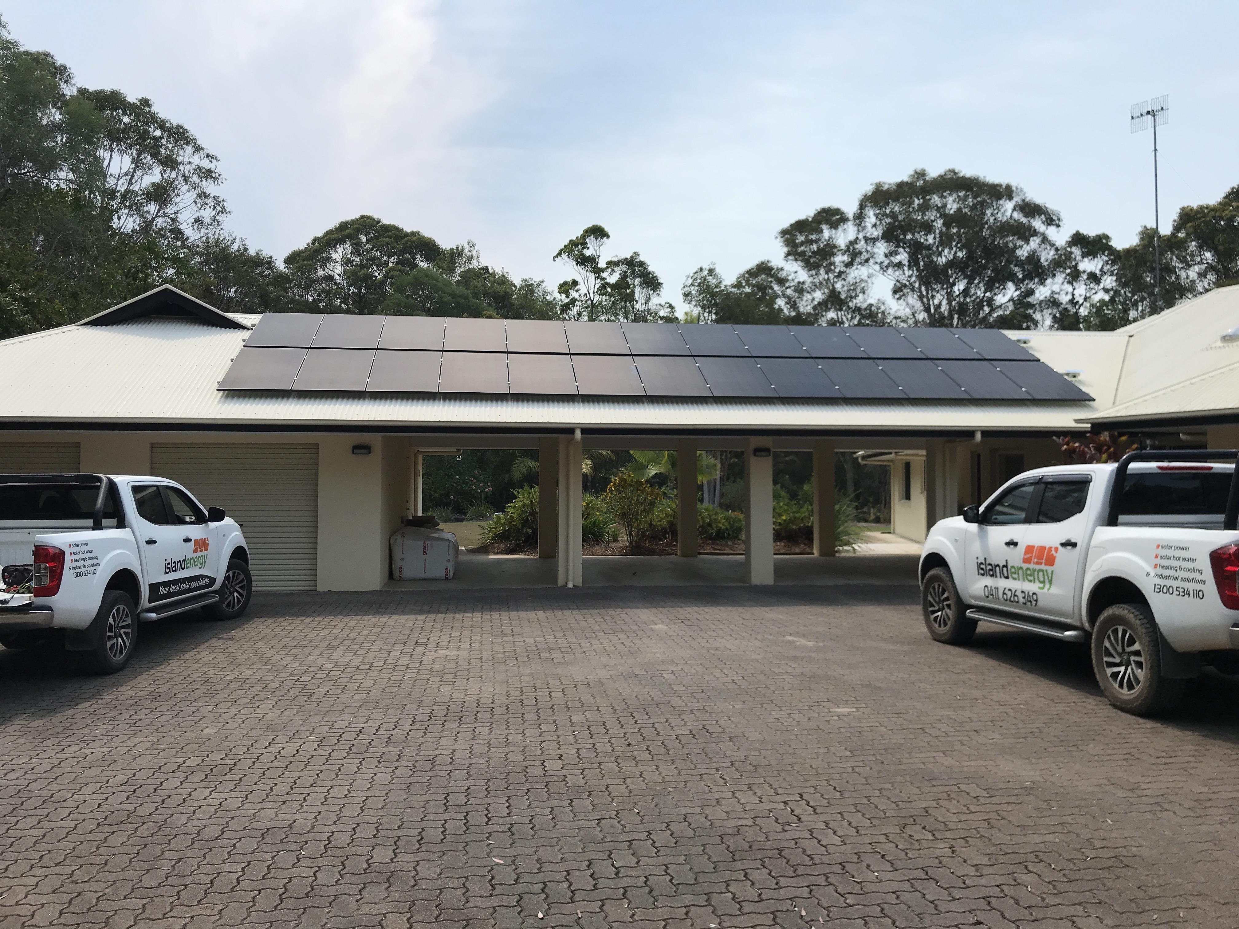 Solar power on a carport
