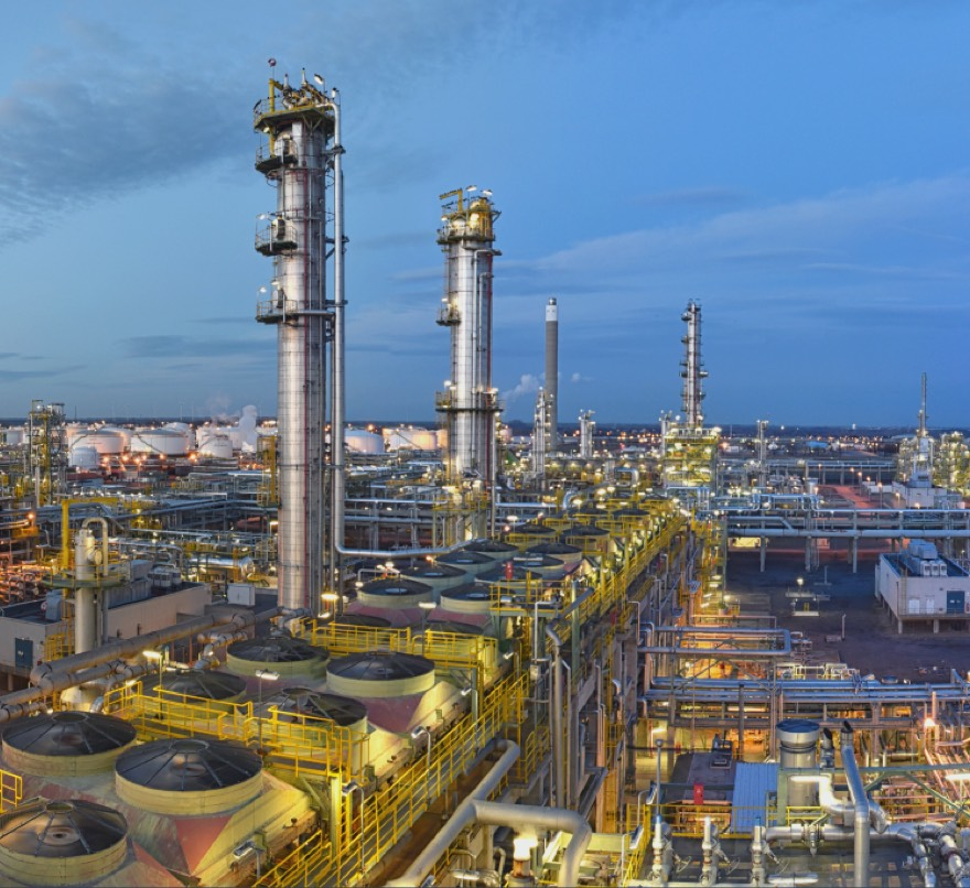 Chemical processing plant or refinery