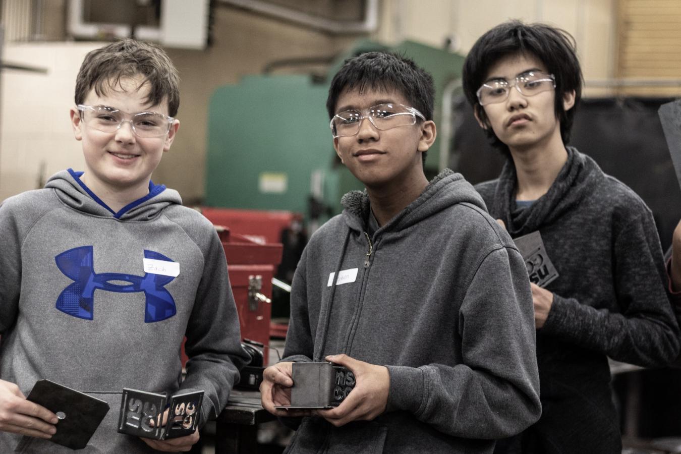 Three Boys from the I Am Potential Program