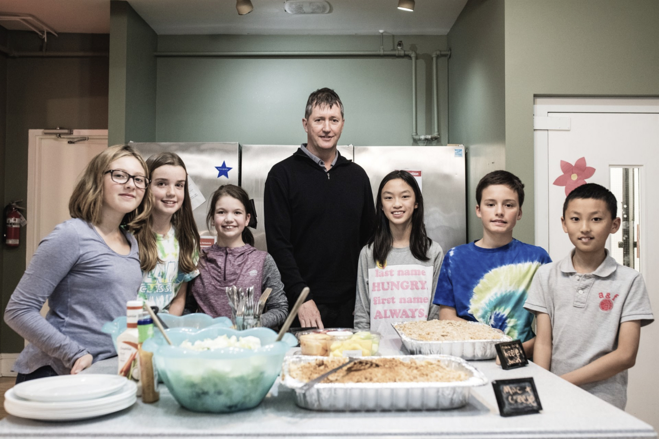 Gordon Stirrett with the Girl Scouts of Halifax