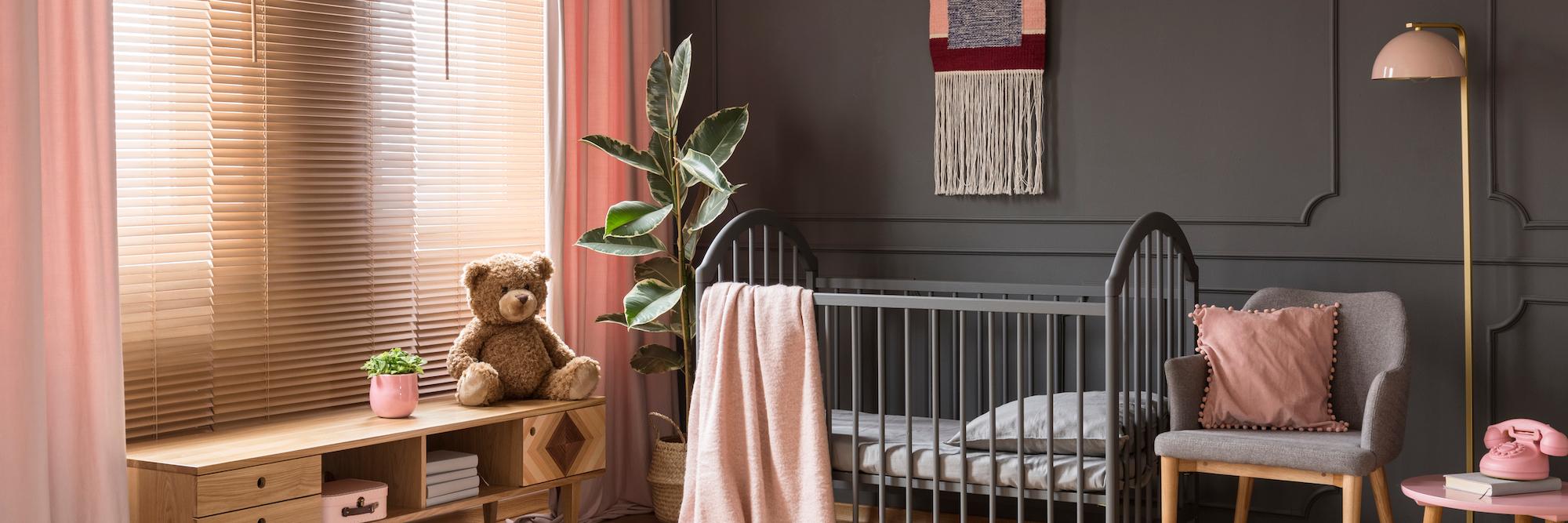 gray pink color scheme baby nursery worldwide surrogacy specialists
