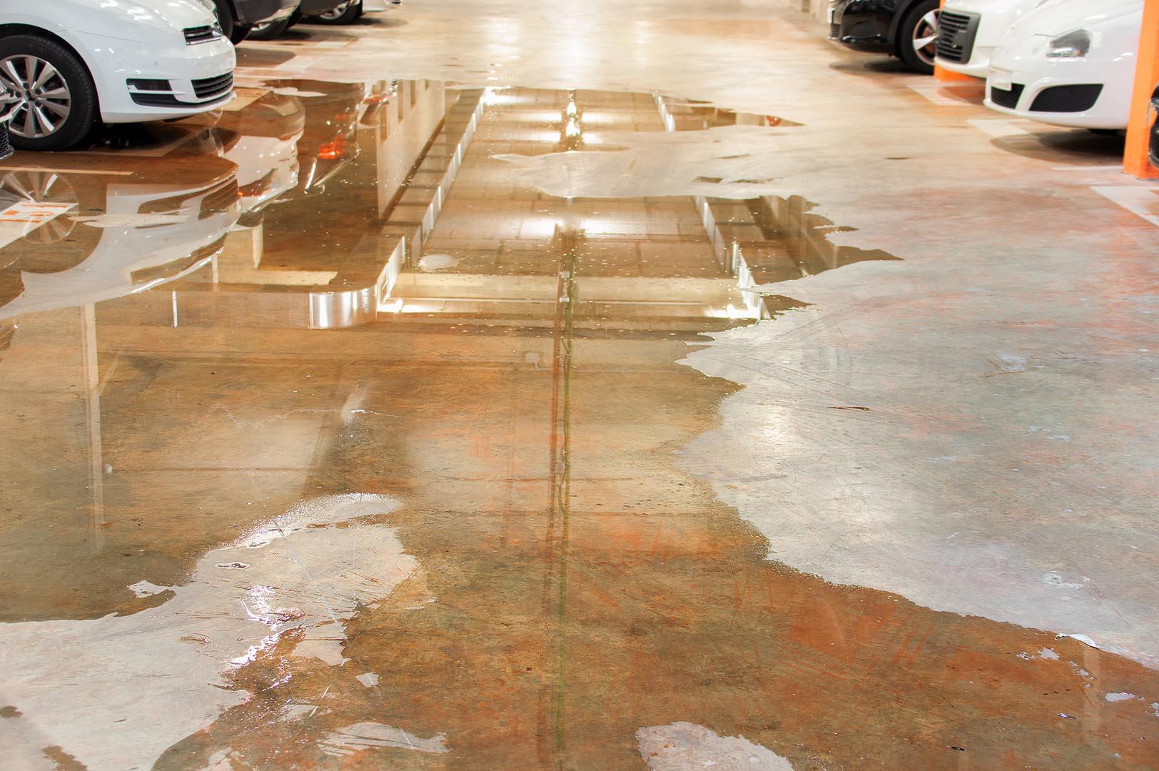 Fjerning av vann i garasjer
