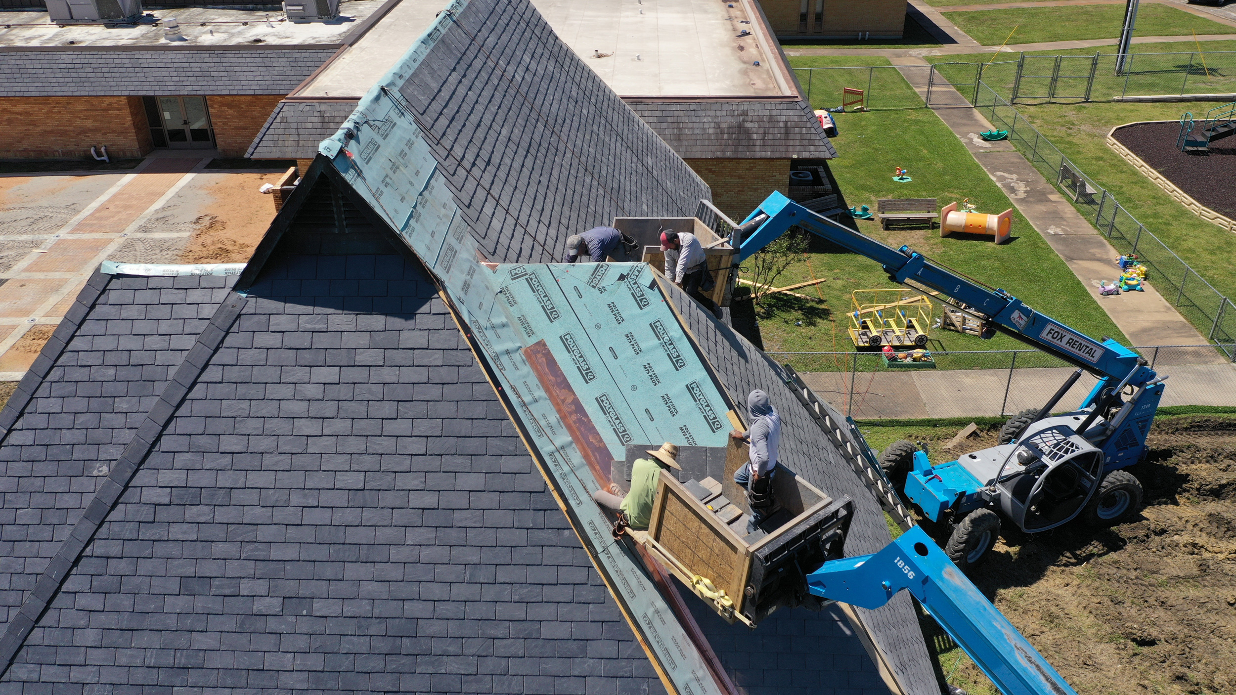 Residential roof replacement by KLM Roofing & General Contracting.