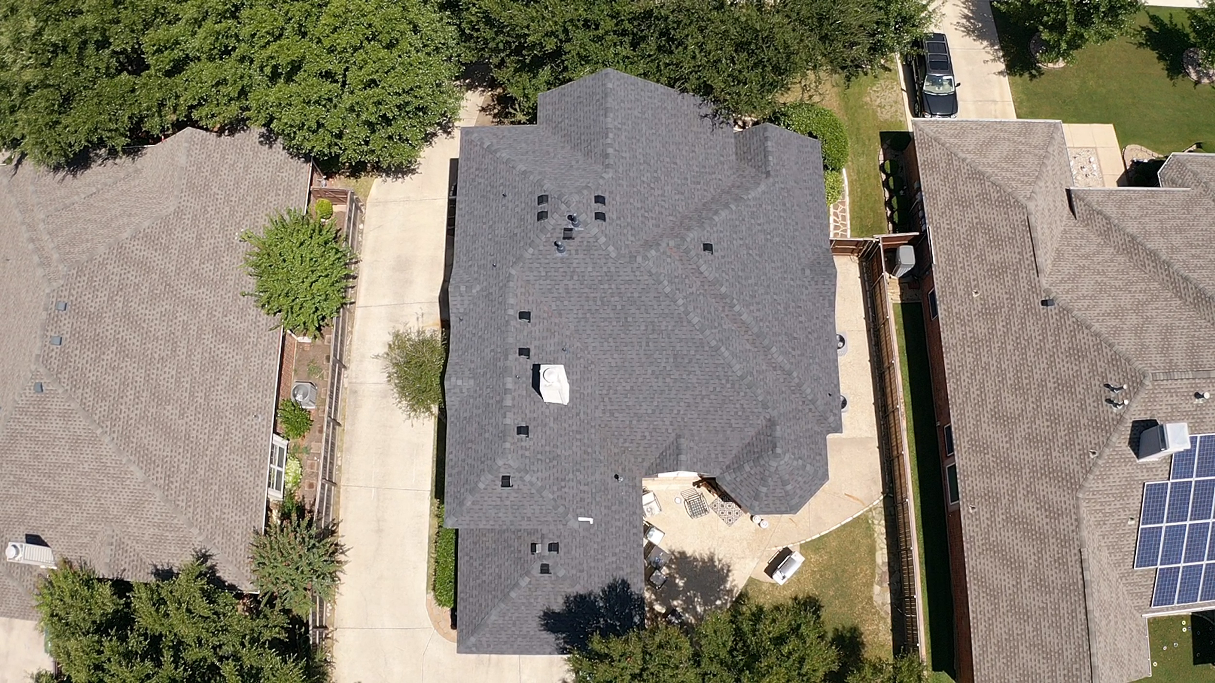 Residential roof repair project.