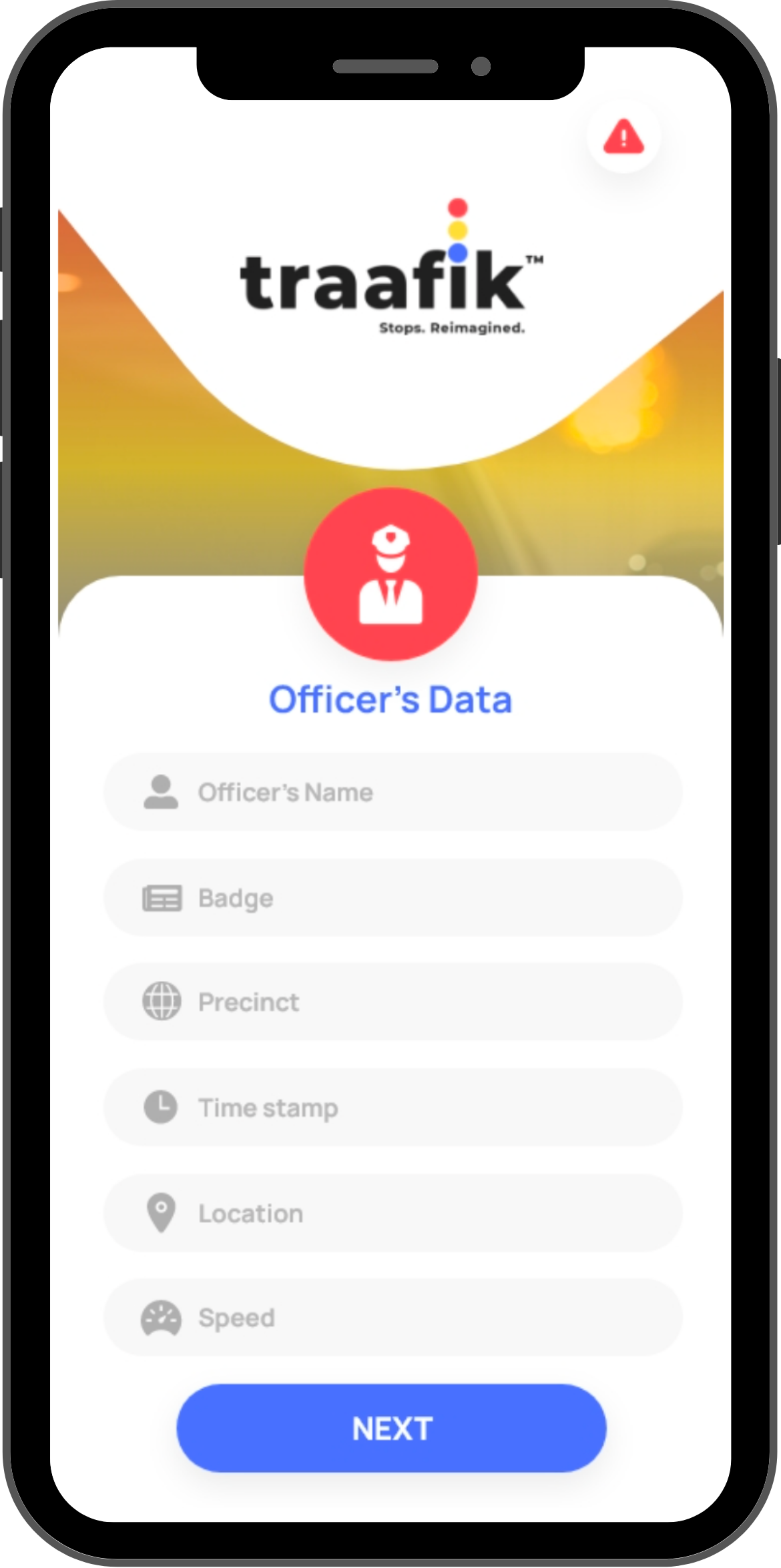 Mobile App, interactions between Police Officers and Drivers Safer, routine traffic stops, Distant e-citations