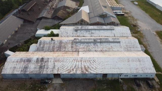 Before metal roof restoration