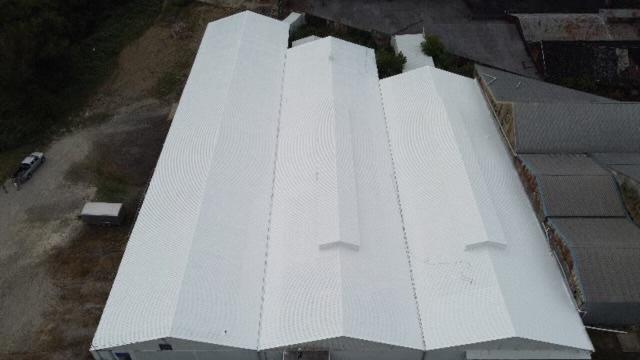 After metal roof restoration