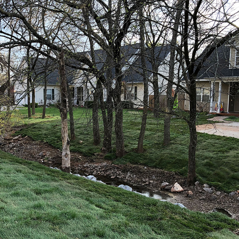 A beautiful landscape for a residence in Oklahoma.
