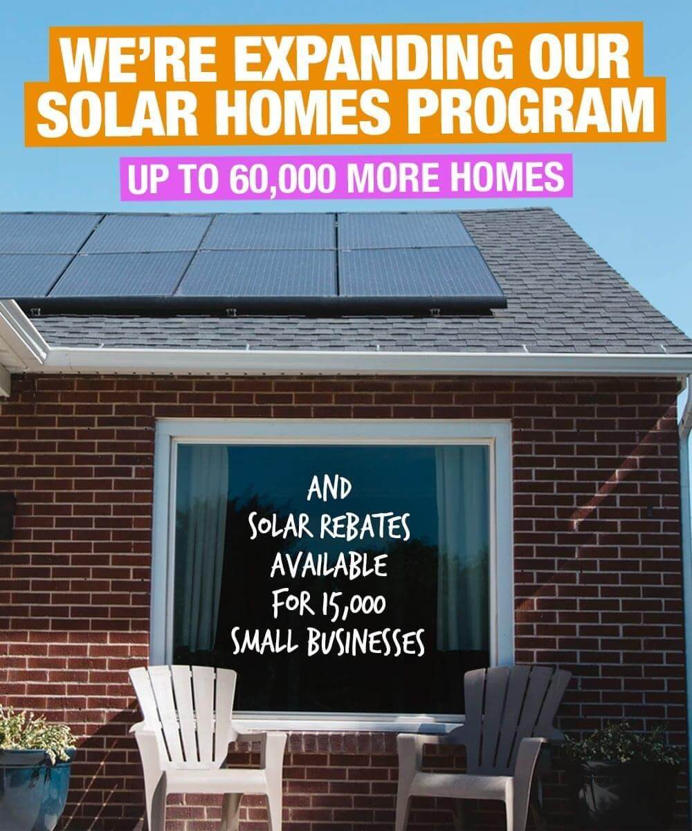 Victoria has just ticked over 100,000 Solar Homes installation