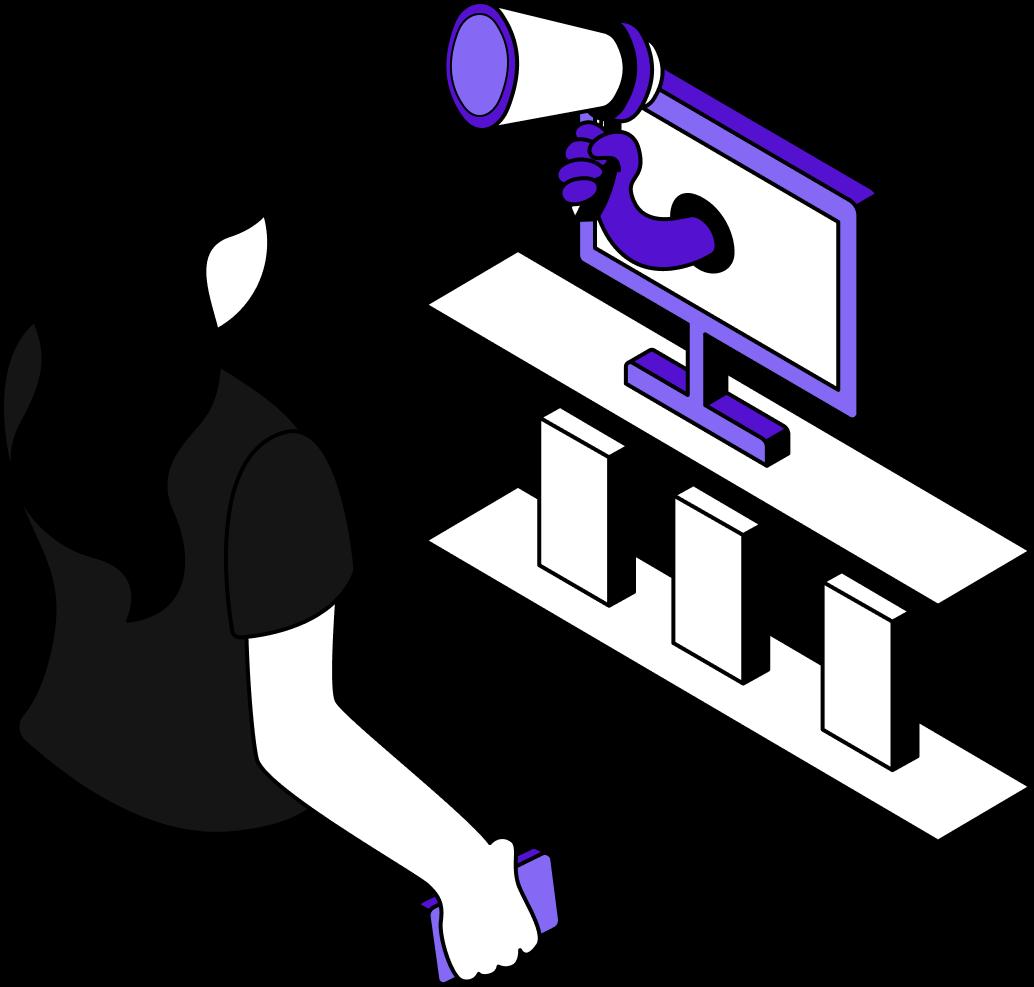 Marketing Illustration - Clerk