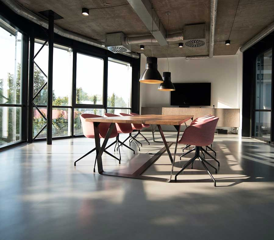 office meeting room with nice open view