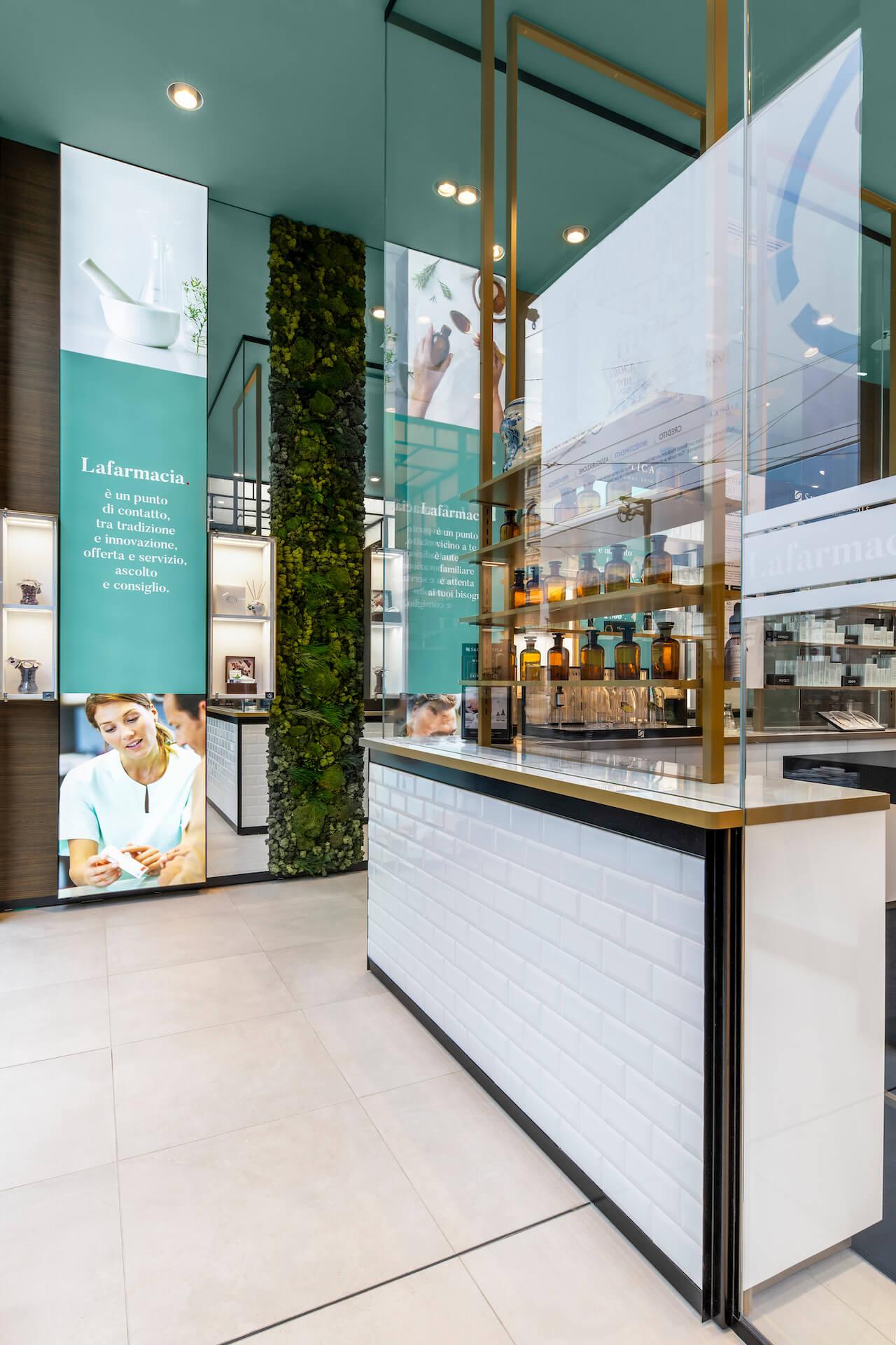 Flagship store Milano particolare lafarmacia hippocrates