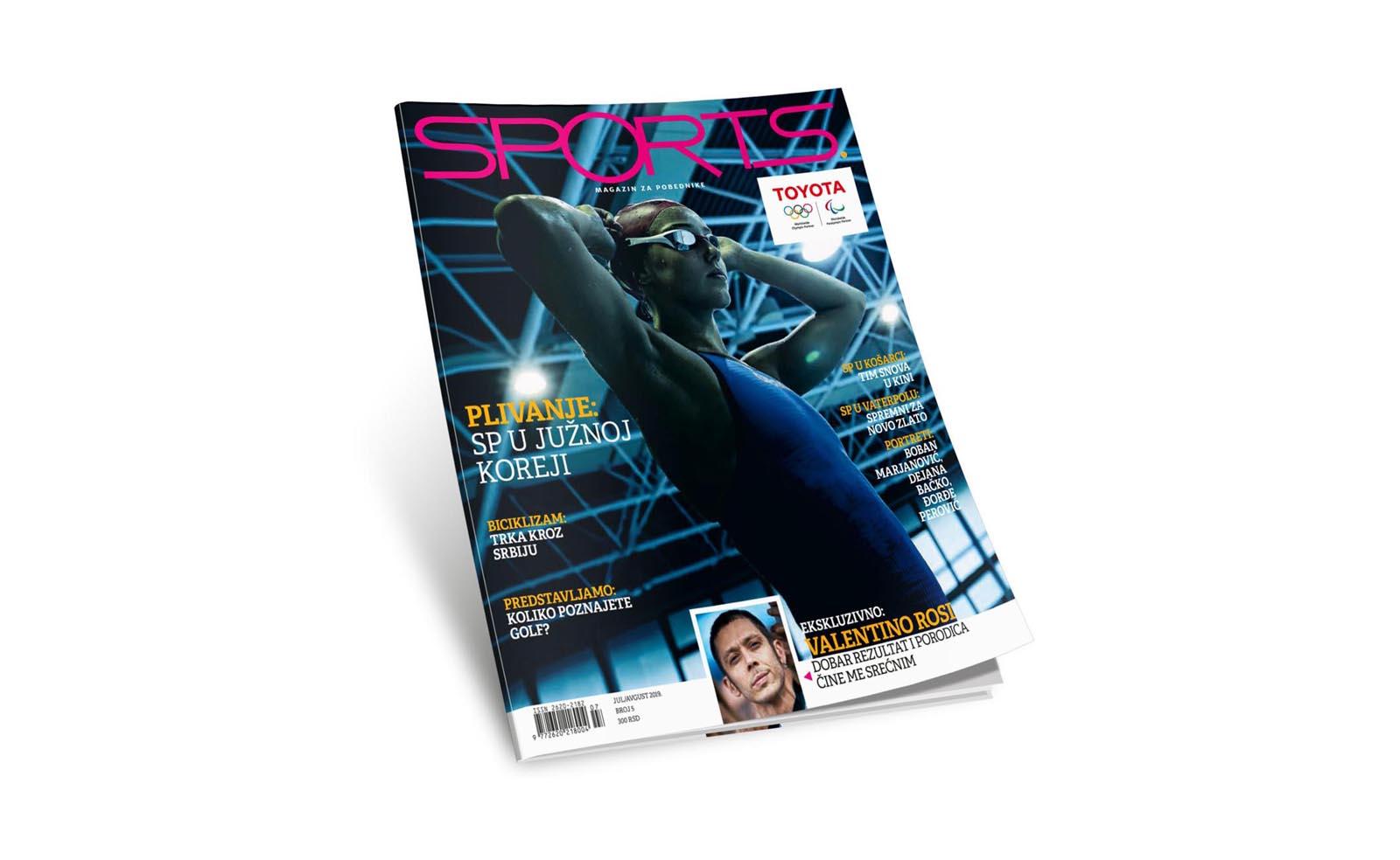 Letnji dvobroj magazina Sports je u prodaji - a za sportiste nema pauze!
