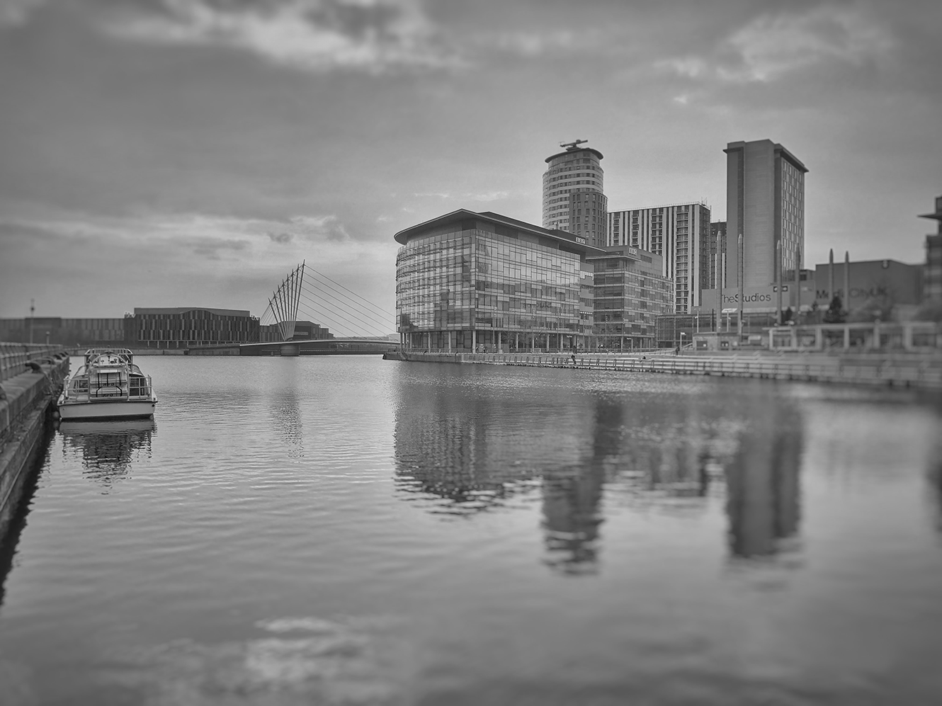 An image of Media City, Manchester.