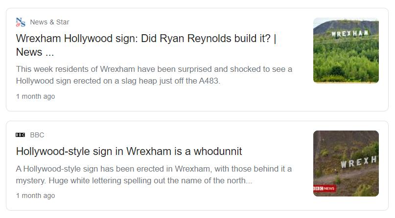 The Wrexham Stunt drew interest from major news sources