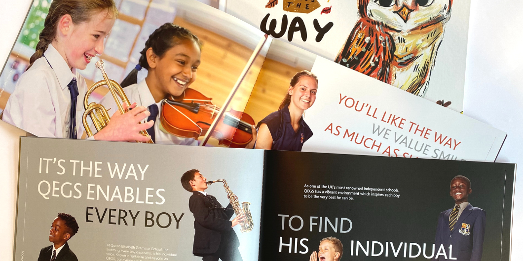 Wakefield Grammar New prospectus items as created by House Creative