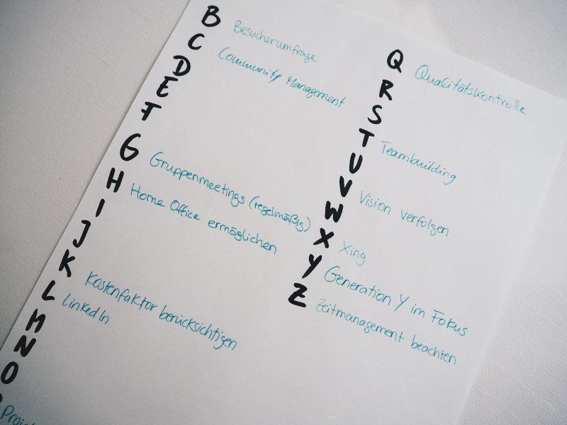 Mit Hilfe der ABC Methode kann man Ideen bewerten.
