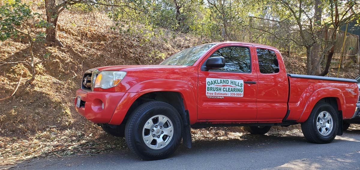 Oakland Hills Brush Clearing truck
