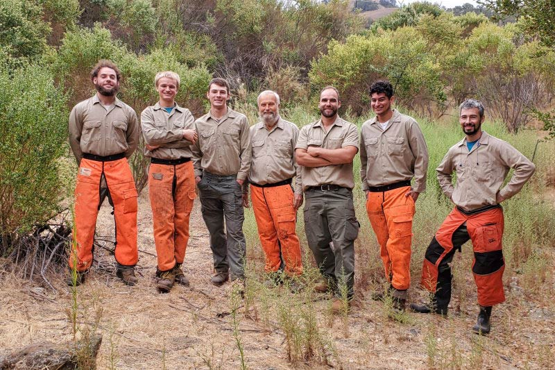 Oakland Brush Clearing team