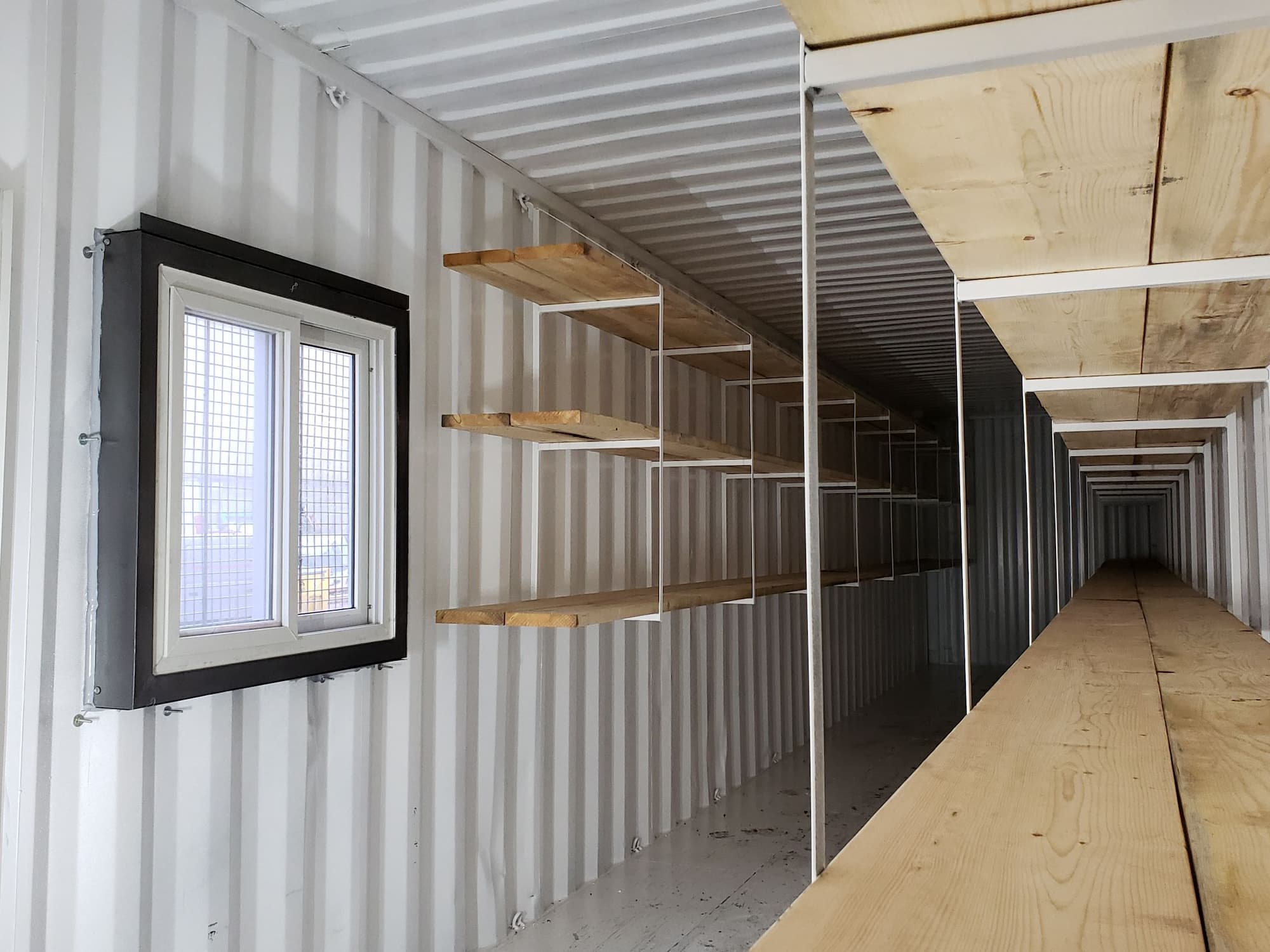 Sea can storage and shelving solutions