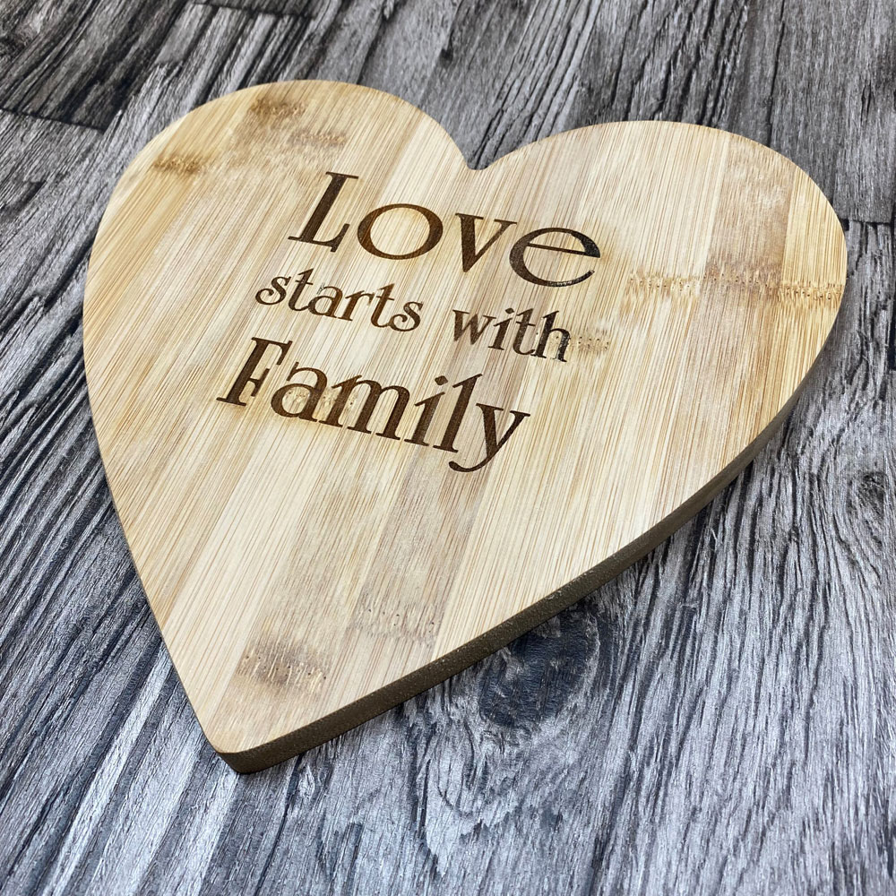 Bamboo Heart 'Love Starts with Family'