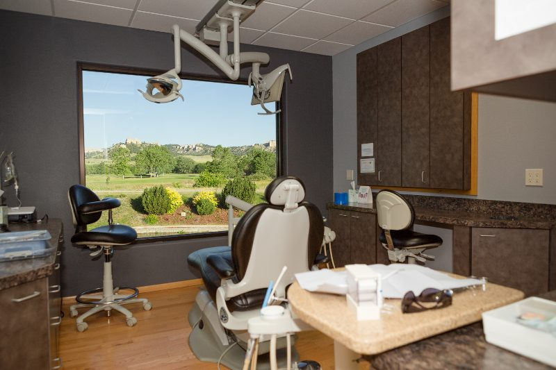 patient chair and office space