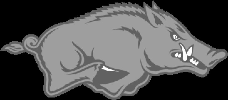 arkansas razorbacks grey logo
