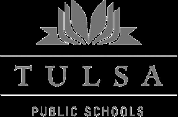 tulsa public schools grey logo