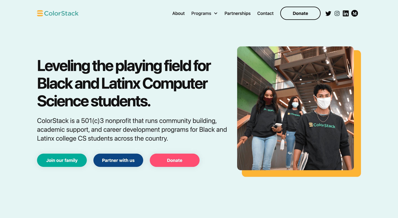 Website for ColorStack that we built