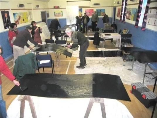 A community art workshop.