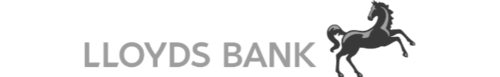 A black and white version of the Lloyds Bank logo