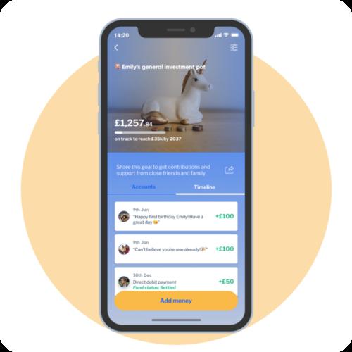 A smartphone showing the Hapi Plan application homescreen