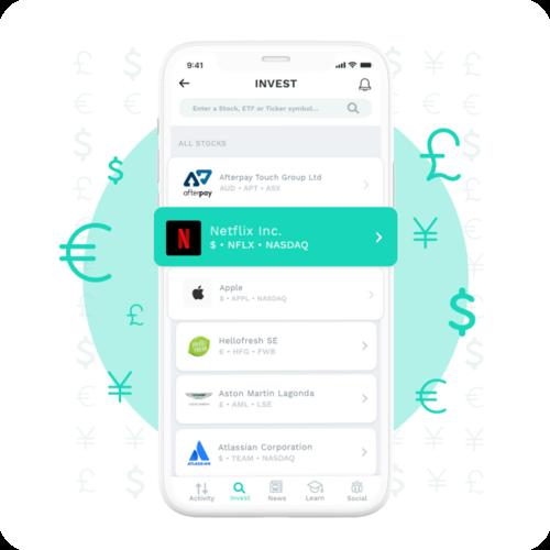 Image of smartphone depicting the Evarvest application