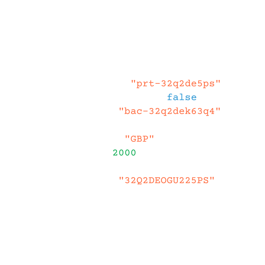 A snippet of code from our API