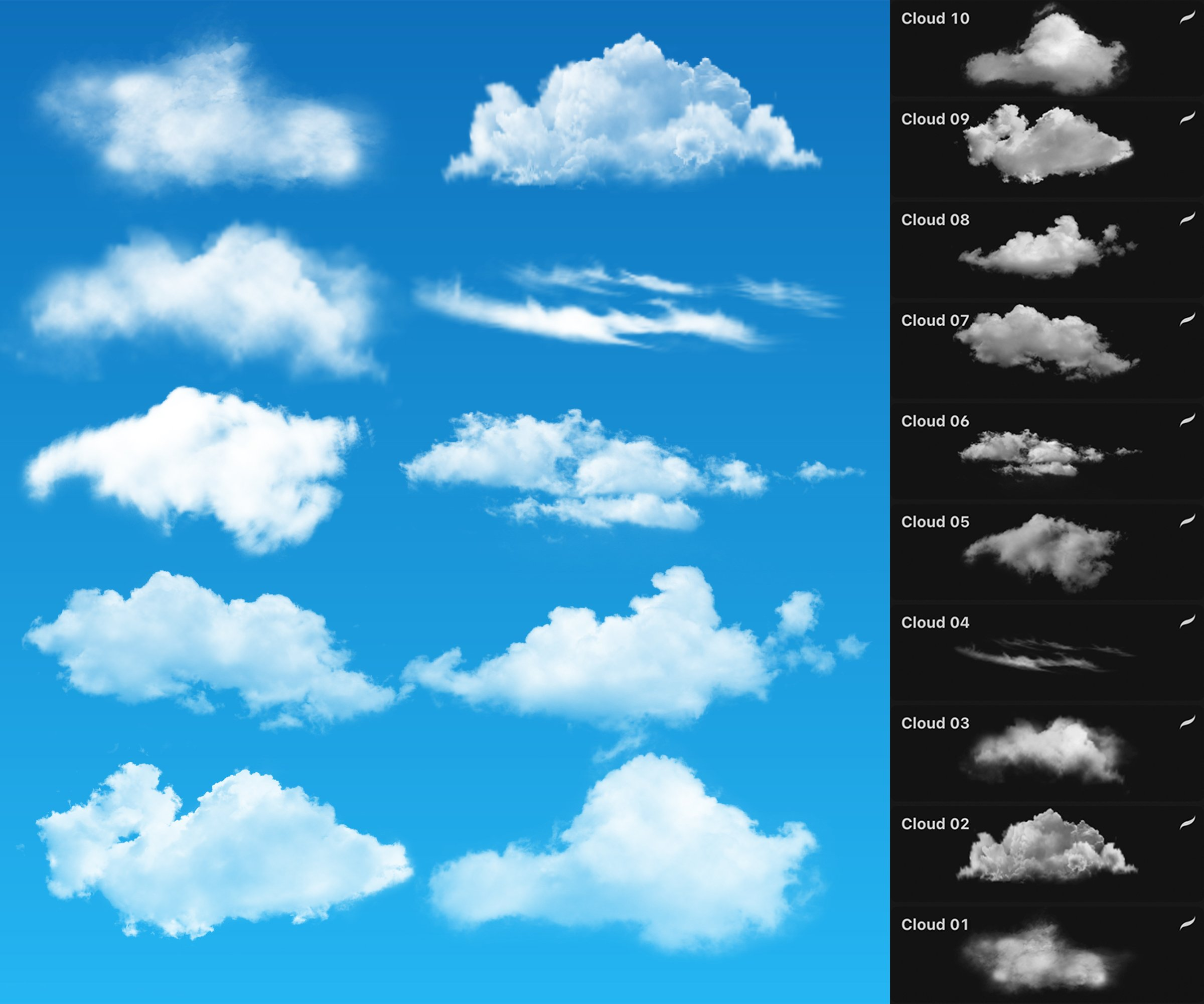 Free Realistic Cloudy for Procreate