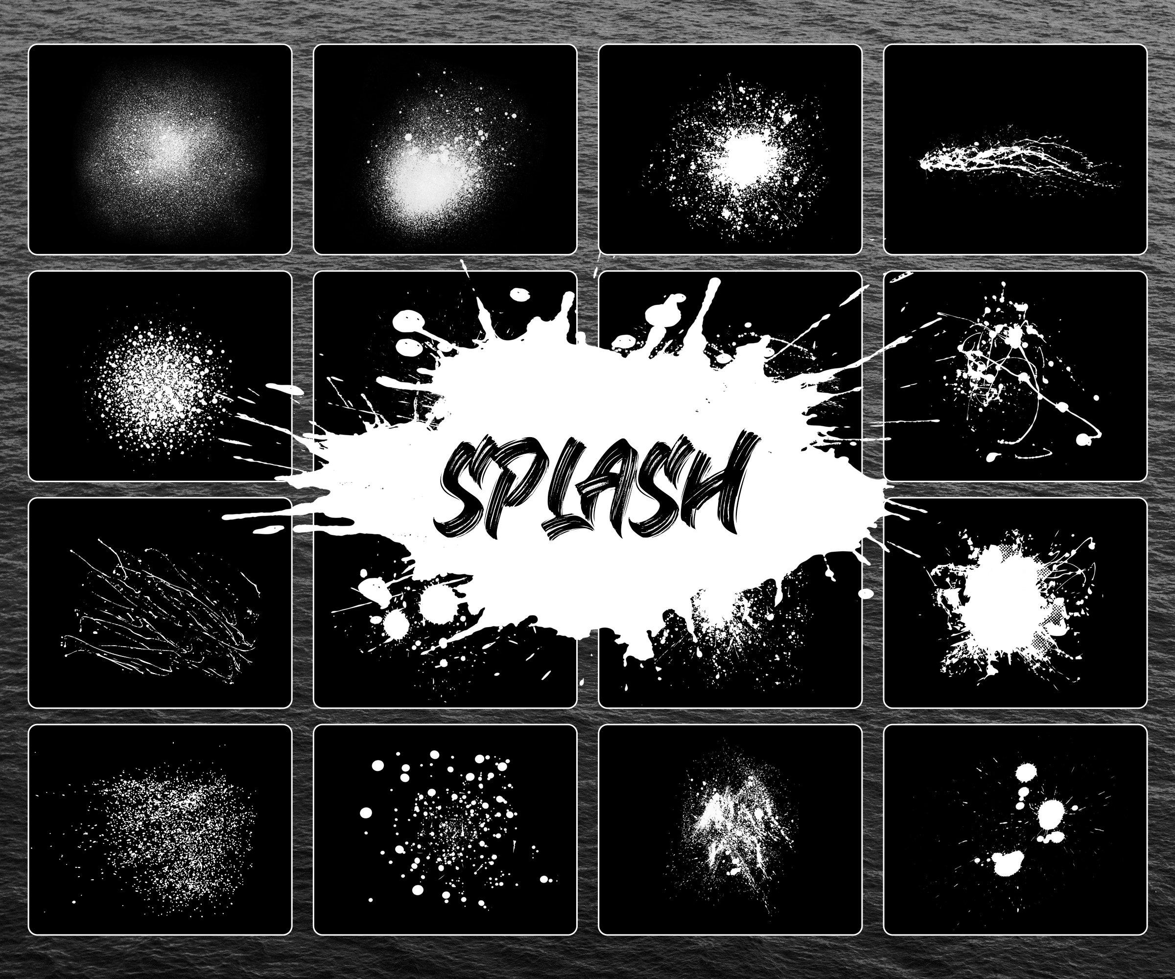 Procreate Splash Brushes - Splash & Splatter