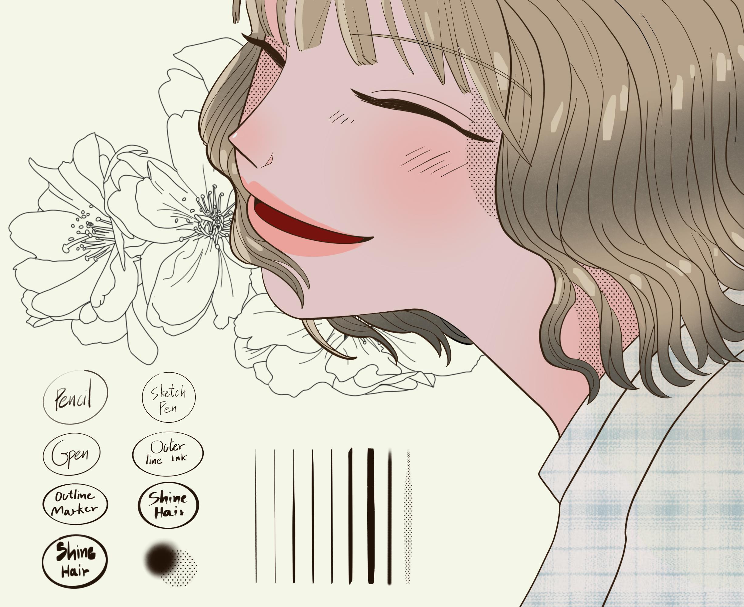 Free Webtoon Character procreate brush