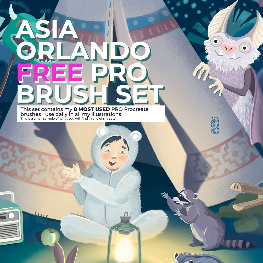 8 FREE PRO Illustration Procreate Brushes