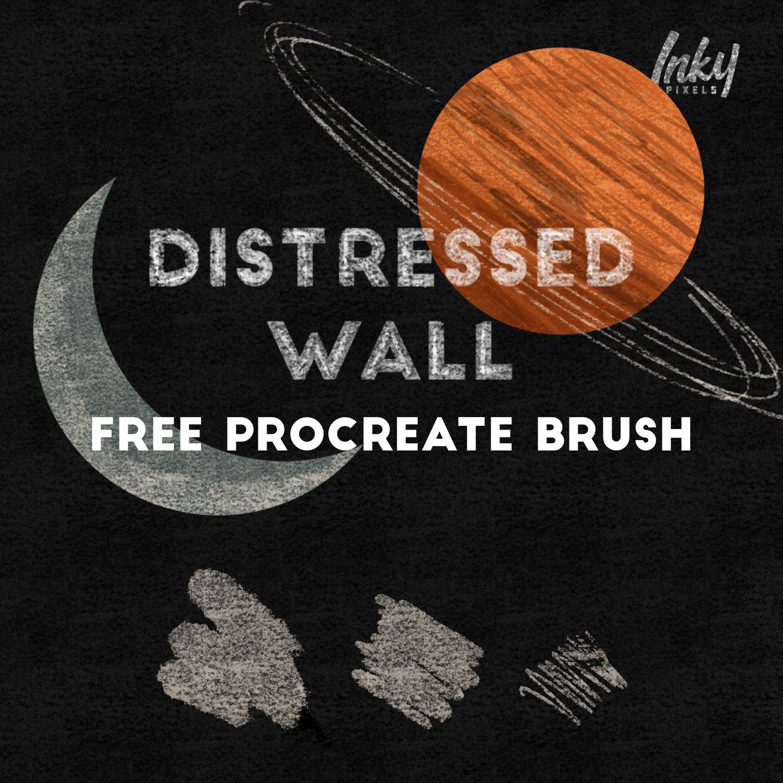 Distressed Wall Free Procreate Brush