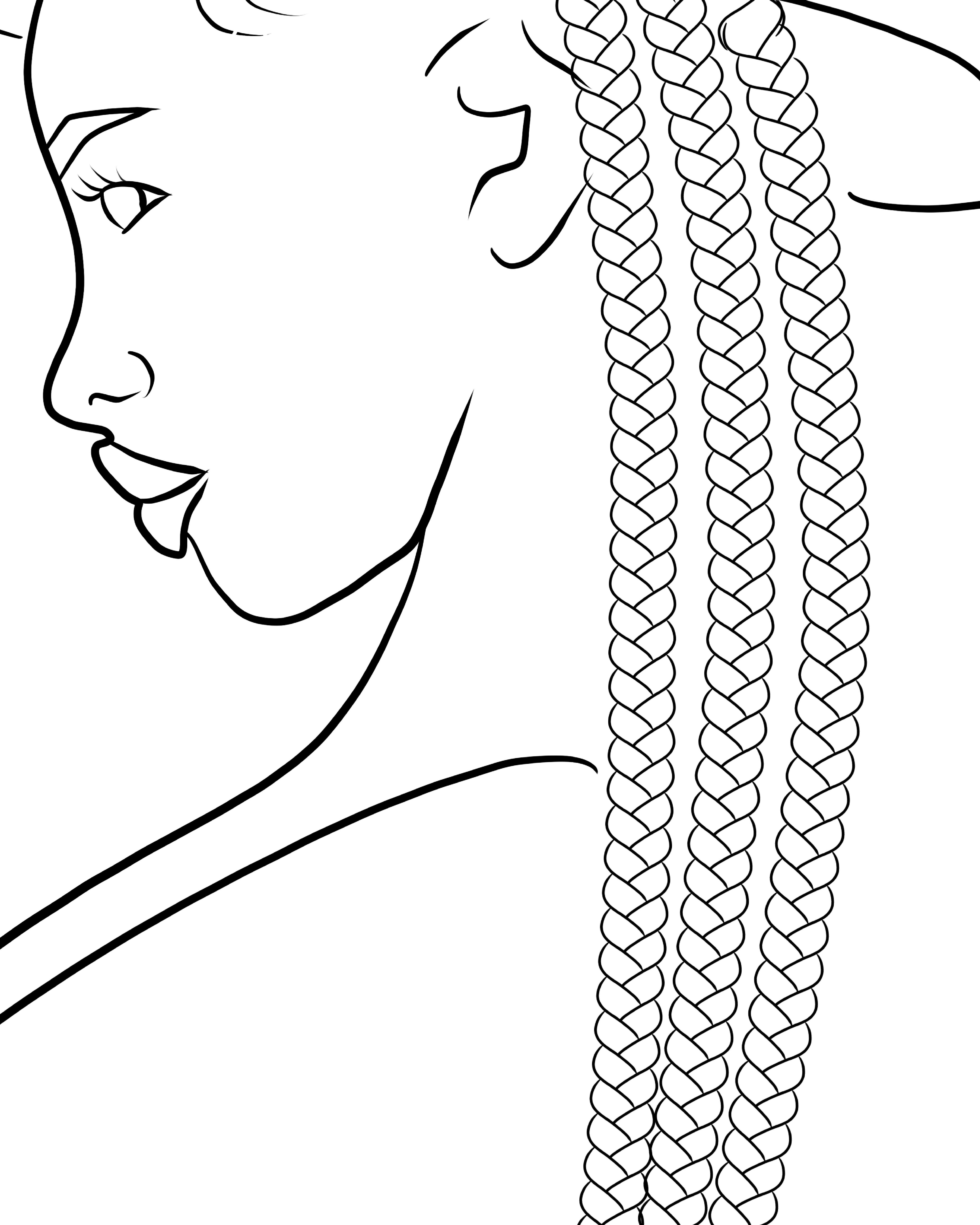 Procreate Braid Outline Brush