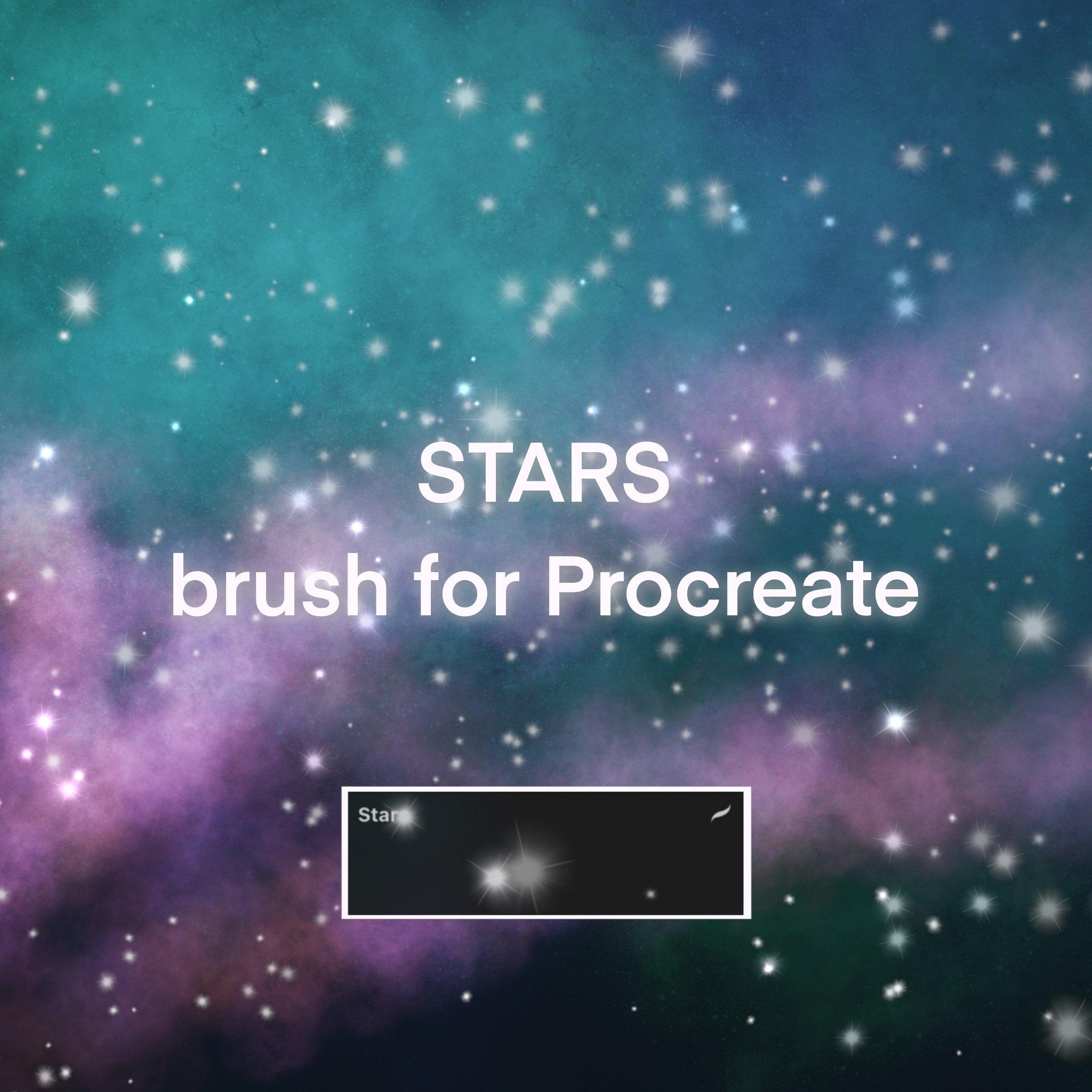 Stars brush for Procreate