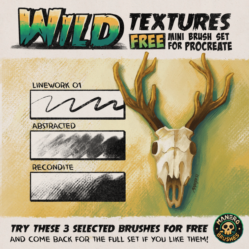 Wild Textures FREE Mini Brush Set for Procreate