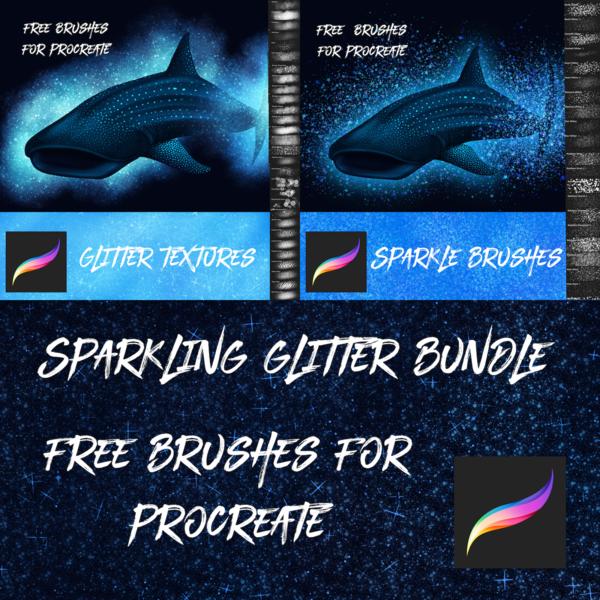 Free Glitter & Sparkle Brushes for Procreate
