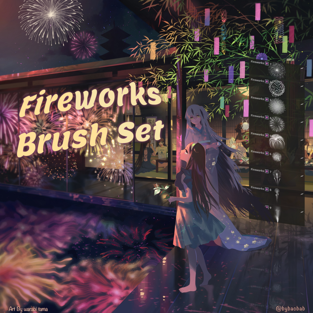FREE Fireworks Brush Set for Procreate!