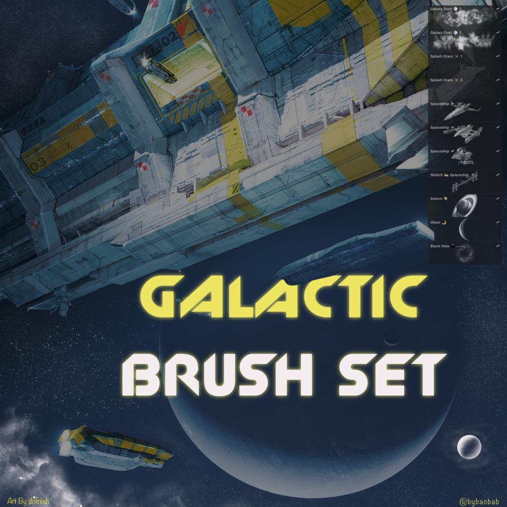 FREE Galactic Brush Set for Procreate!