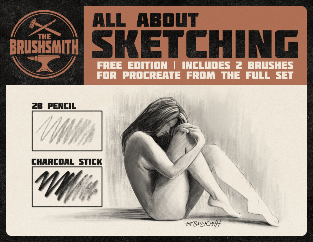 All About Sketching | Free Edition Brush Set for Procreate
